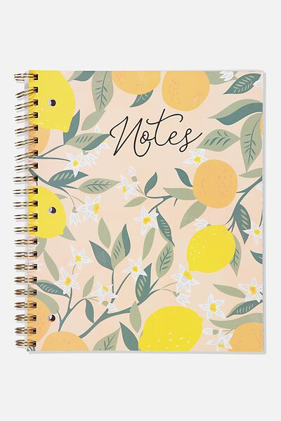 College Ruled Campus Notebook, FRUIT NOTES