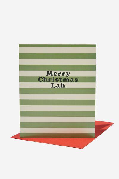 Christmas Card 2021, RG ASIA CHRISTMAS LAH GREEN STRIPE
