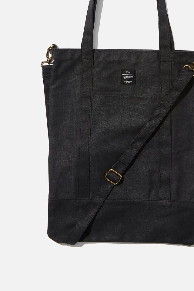 Book Tote Bag, WASHED BLACK