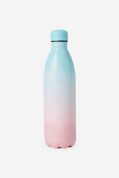 1L Metal Drink Bottle, GREEN PINK OMBRE
