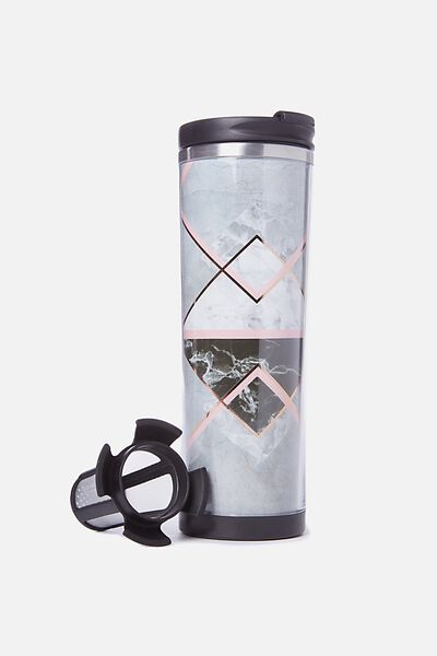 Tea-Riffic Travel Mug, MARBLE