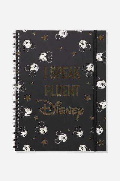 A4 Spinout Notebook - 120 Pages, LCN SPEAK FLUENT DISNEY HEADS