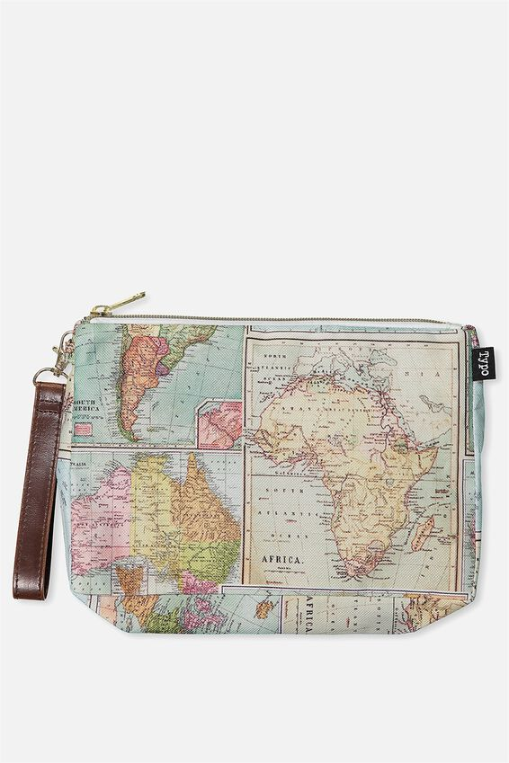 3 Pc Travel Organiser Bags, WORLD MAP PRINT