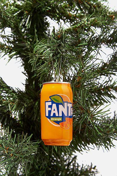 Resin Christmas Ornament, LCN COK FANTA CAN