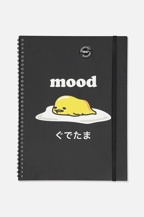 Gudetama A4 Spinout Notebook Recycled, LCN SAN GU MOOD