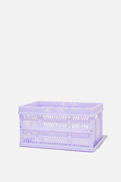 Small Foldable Storage Crate, PALE LILAC