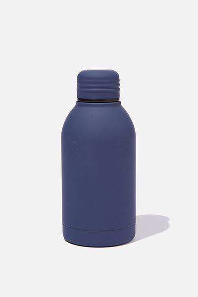 Mini Metal Drink Bottle, PL RUBBER NAVY
