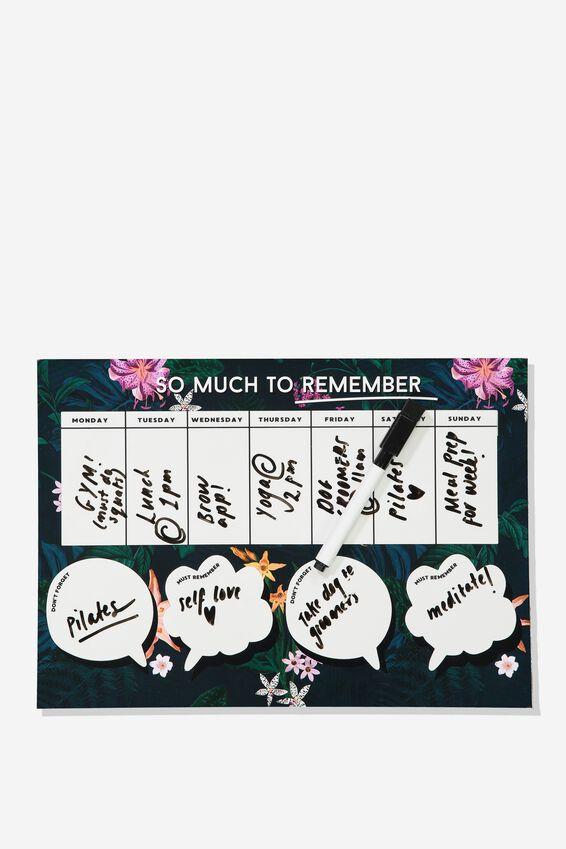 Sticky Memo Board, JUNGLE FLORAL REMEMBER