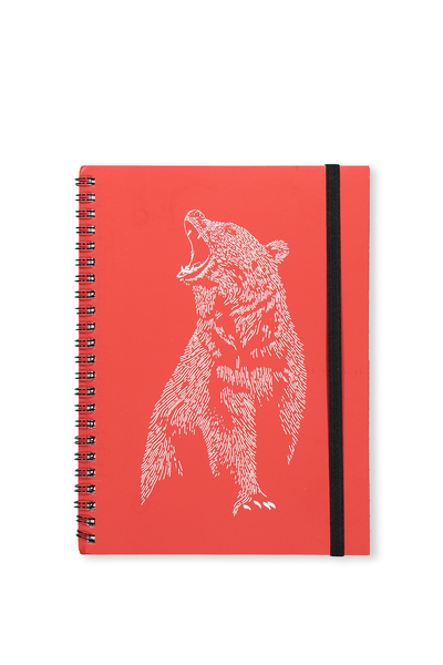 Small Spinout Notebook Usa 8X6, BEAR LINES