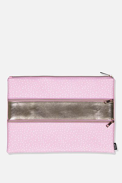 Keep It Together Pencil Case, PINK SPECKLE