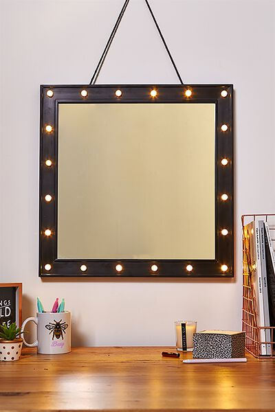 50 X 50 Marquee Mirror, BLACK