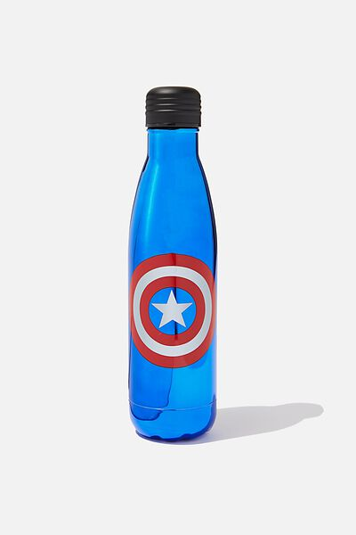 Premium Metal Drink Bottle, LCN MARVEL CAPTAIN AMERICA