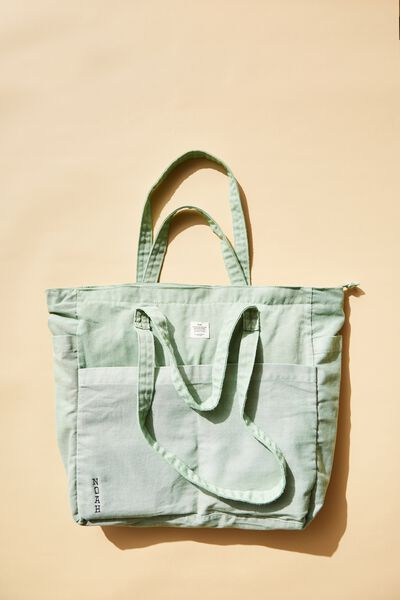 Personalised Studio Tote, WASHED ALLY GREEN