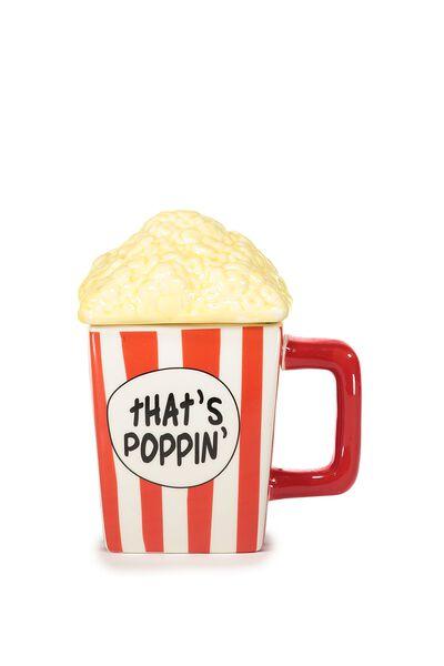 Novelty Shaped Mug, POPCORN LID