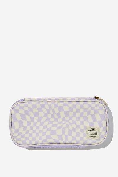 Switch It Up Protective Case, WARP CHECKERBOARD LILAC