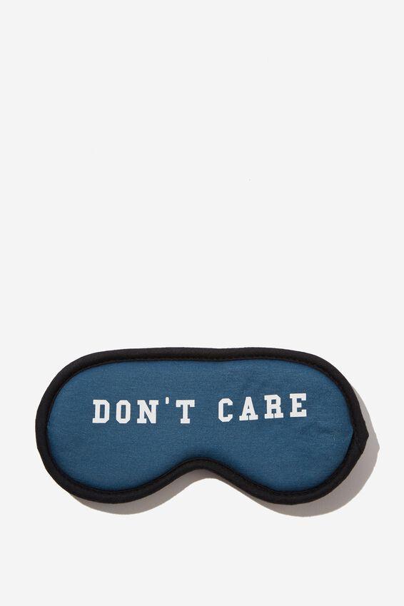 Premium Sleep Eye Mask, DON'T CARE