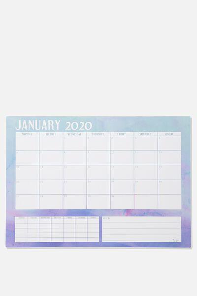 2020 A3 Plan Ahead Planner, WATERCOLOUR