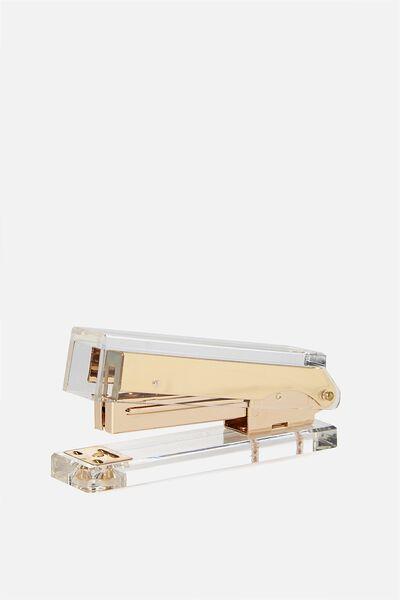 Acrylic Stapler, GOLD