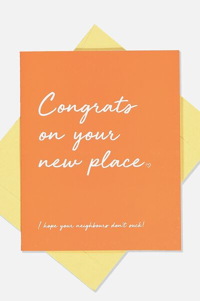 Home Card, CONGRATS ON NEW PLACE