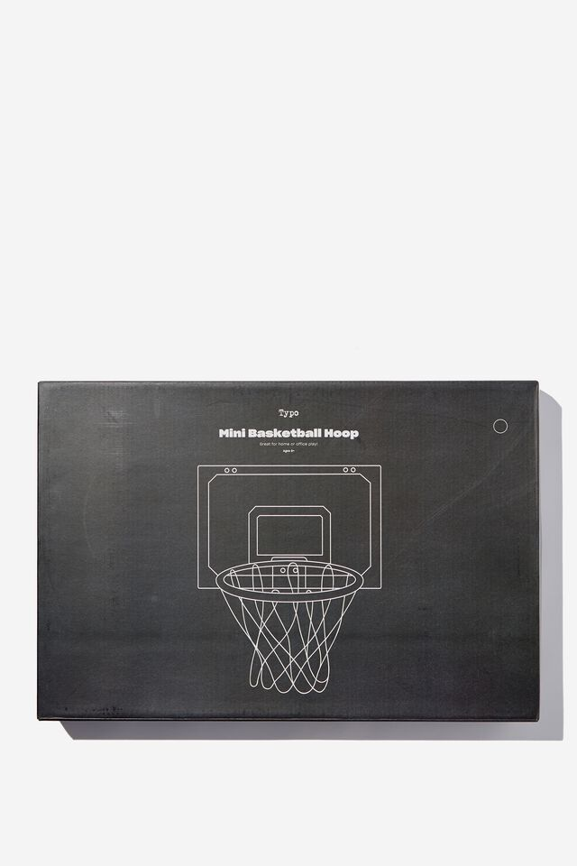 Mini Basketball Hoop, BLACK