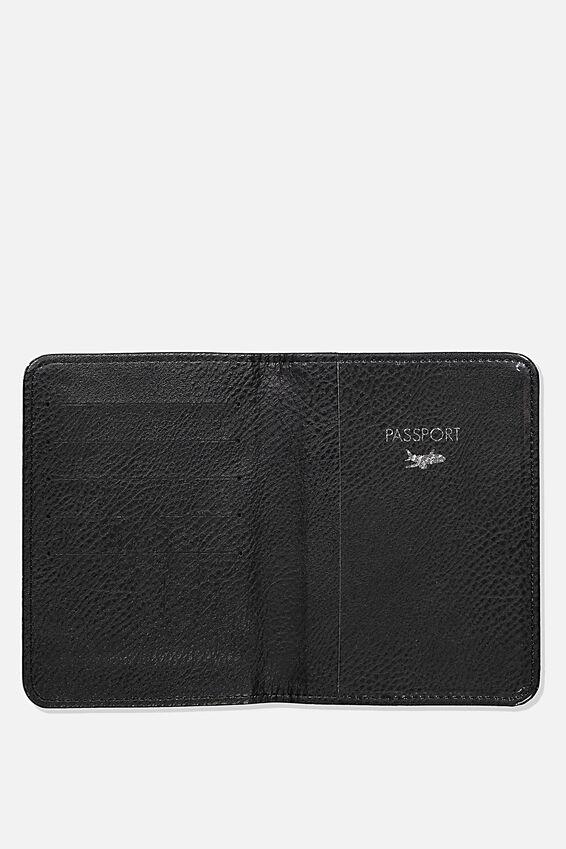 Rfid Passport Holder, BLACK SPLATTER