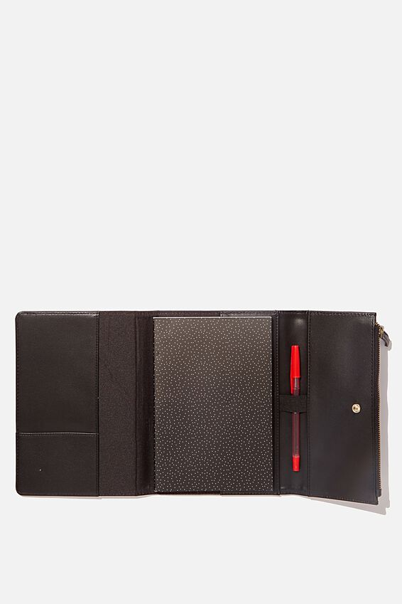 Zip Pocket Diary, BLACK
