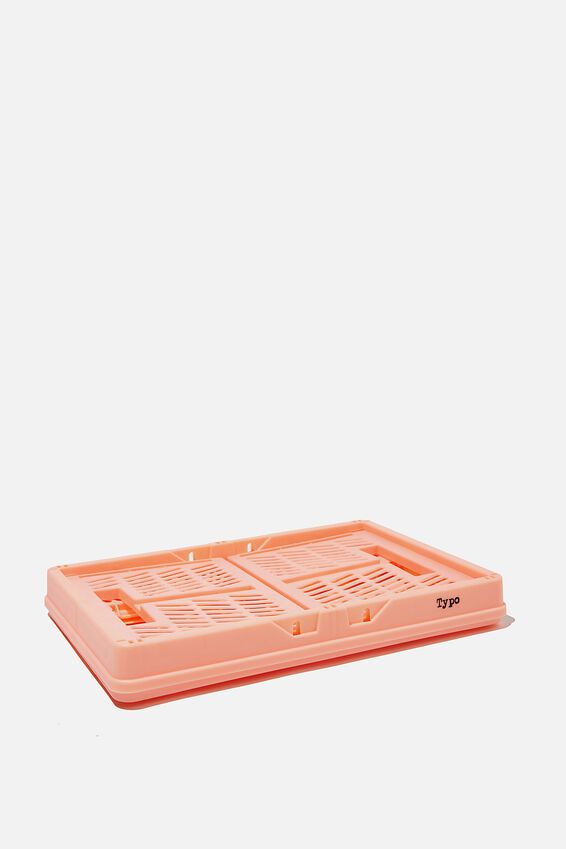 Small Foldable Storage Crate, PEACH CANDY
