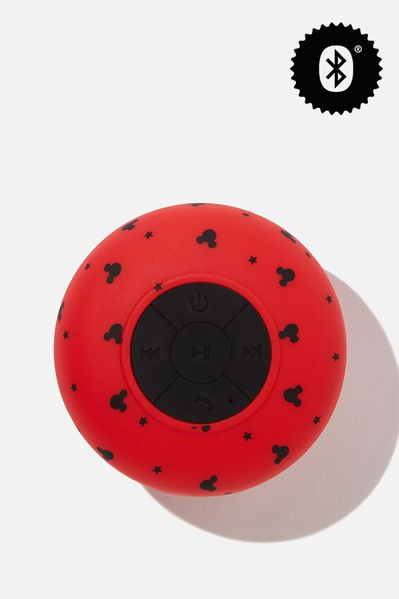 Waterproof Bluetooth Shower Speaker, LCN DIS DITSY RED