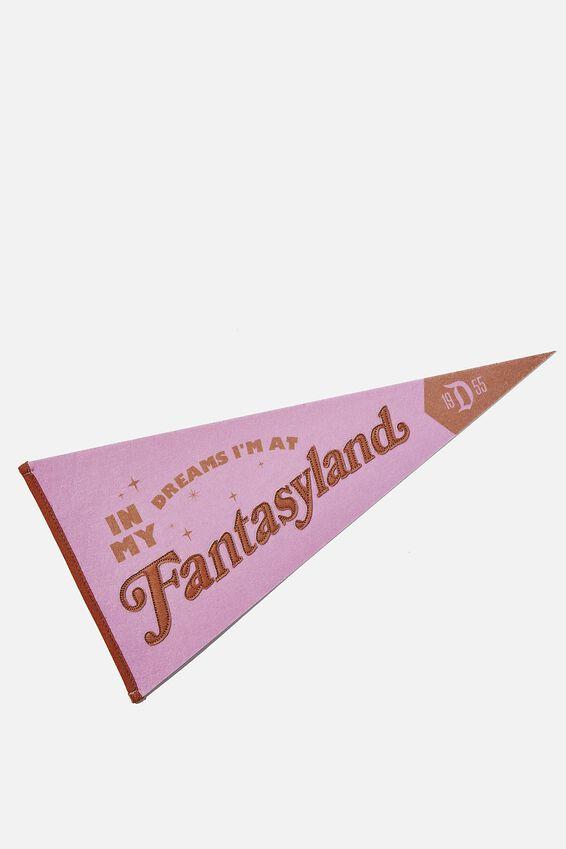 Disney Pennant Wall Flag, LICENSE DISNEYLAND FANTASYLAND