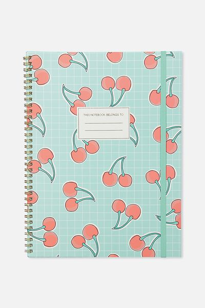 A4 Spinout Notebook - 120 Pages, CHERRIES