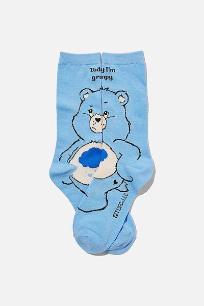 Socks, LCN CLC CARE BEARS GRUMPY BEAR