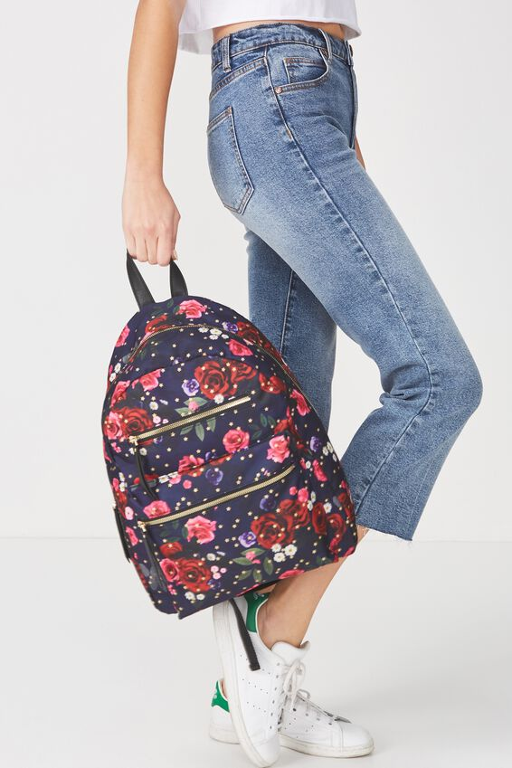 Campus Backpack, NAVY FLORAL