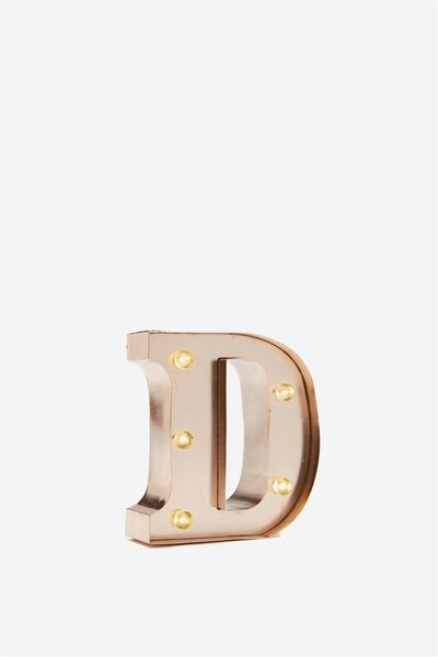 Mini Marquee Letters 10Cm, ROSE GOLD D