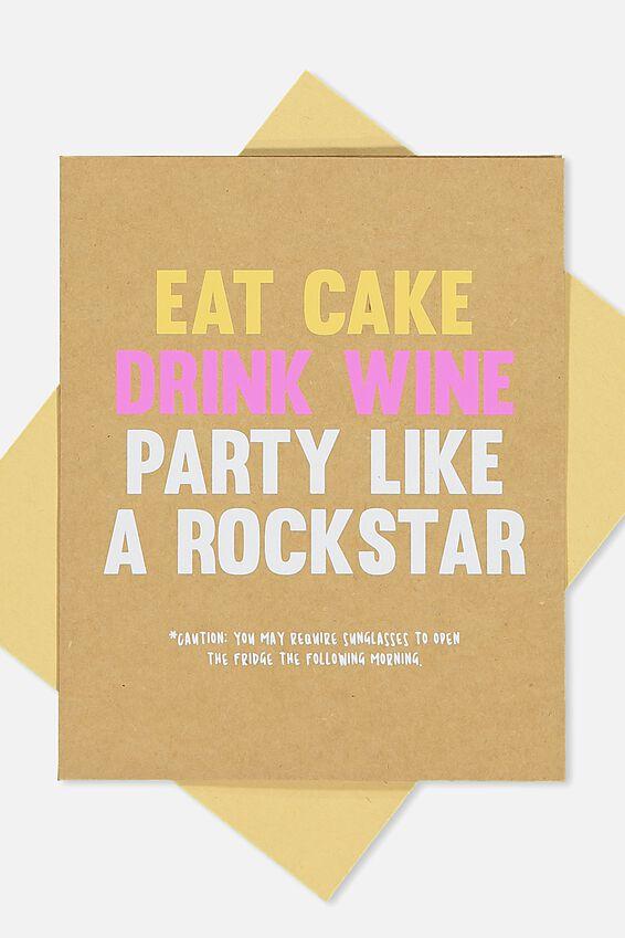 Funny Birthday Card, LIKE A ROCKSTAR!