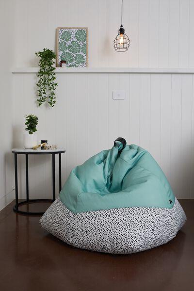 Bean Bag Cover, BLACK & WHITE POLKA