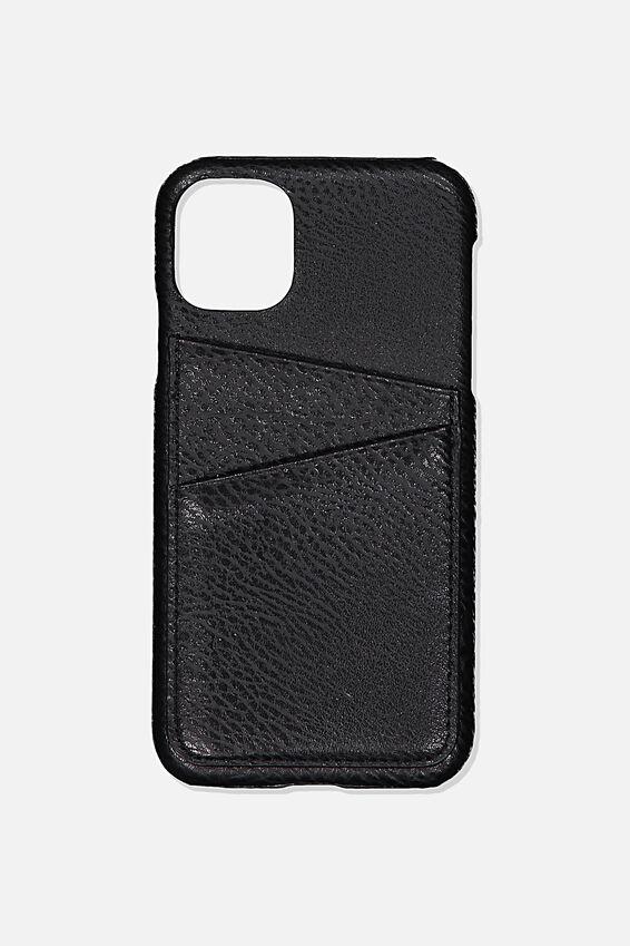 Cardholder Phone Cover Iphone 11, BLACK PEBBLE