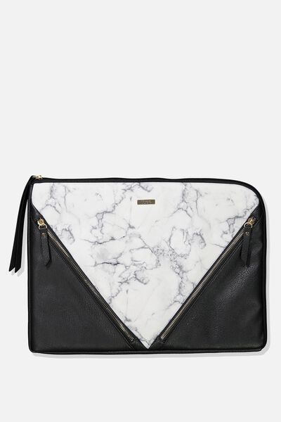 Premium Laptop Case 15 Inch, WHITE MARBLE