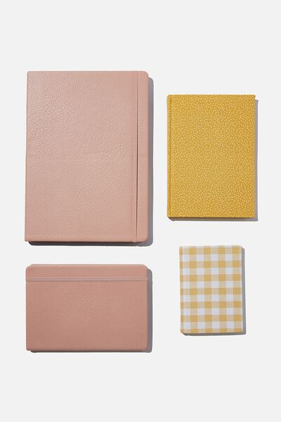 Ultimate Notebook Set, PINK MUSTARD
