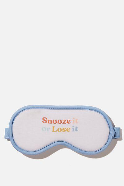 Premium Sleep Eye Mask, BONE SNOOZE