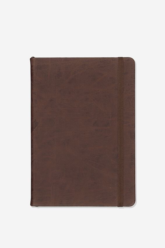 A5 Buffalo Journal Grid Internal, RICH TAN