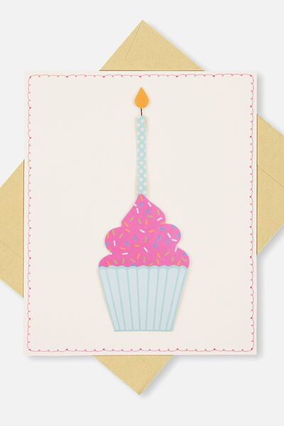 Embellishment Card, NB-CUPCAKE
