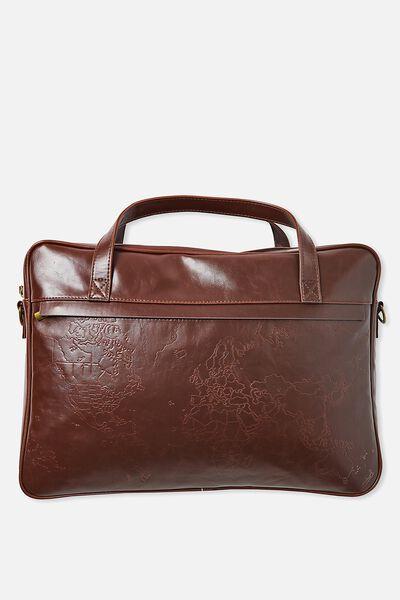 Premium Laptop Bag 15 Inch, RICH TAN MAP