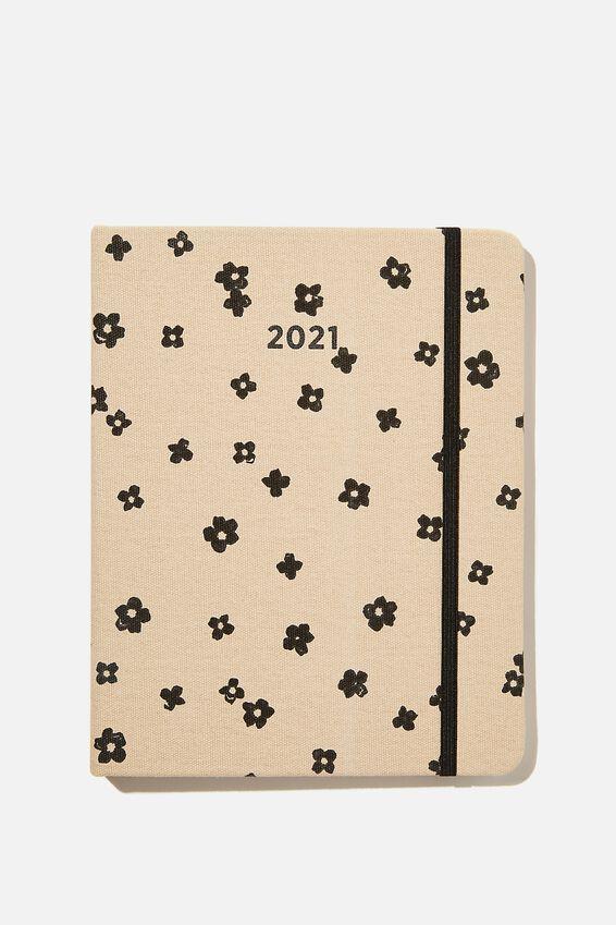 2021 Premium Planner, CHARLIE FLORAL OAT MILK