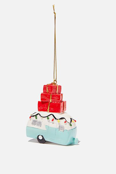 Resin Christmas Ornament, PRESENT CAMPER