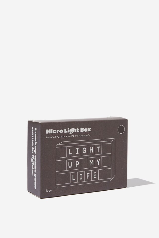 Micro Light Box, BLACK RECTANGLE