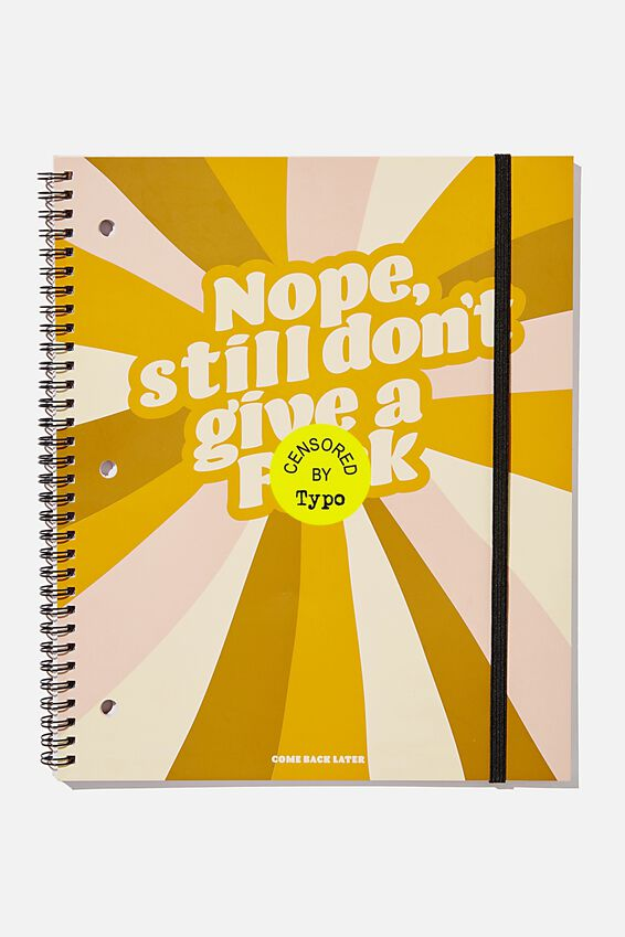 College Ruled Spinout Notebook V, DON T GIVE A F*CK IF IT S HAPPY!!