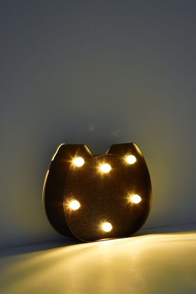 Shaped Mini Marquee Light, BLACK CAT