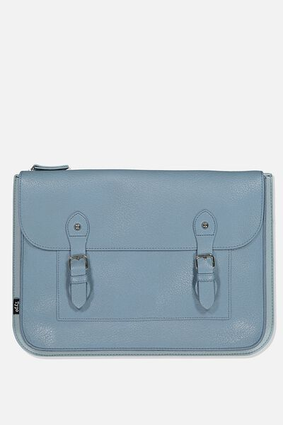Buffalo 13 Inch Tech Folio, PETROL & DUSTY BLUE