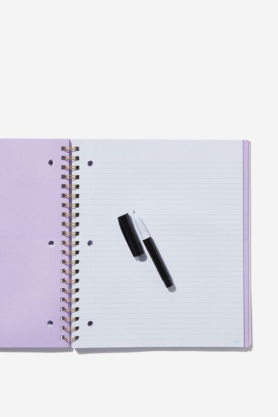 College Ruled Campus Notebook - V, LACE SPLICE