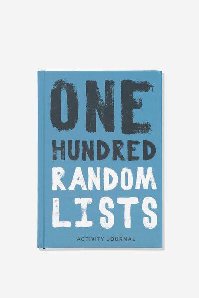 Activity Time Journal A5, 100 RANDOM LISTS